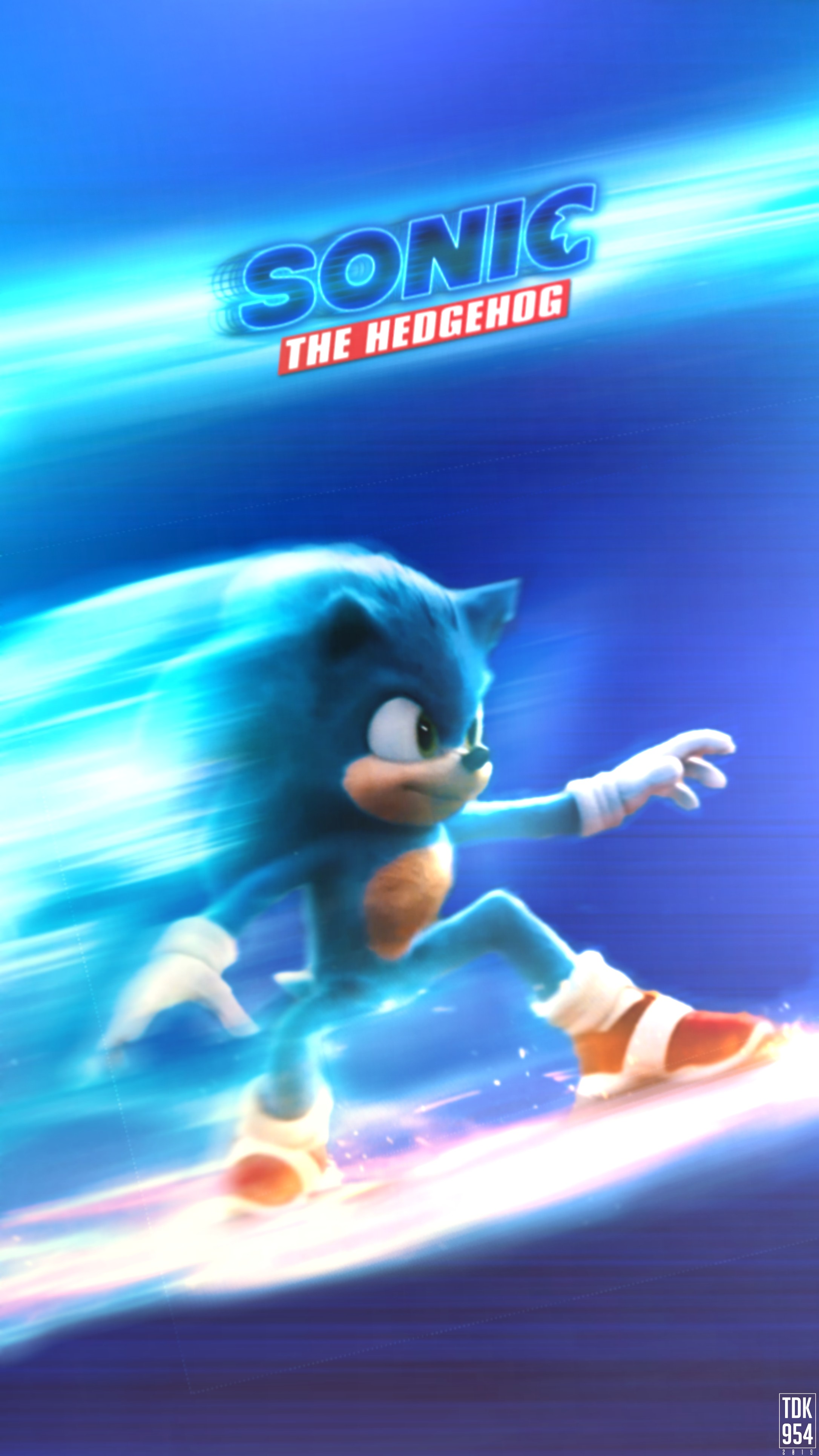 Sonic The Hedgehog Movie Poster Mobile Wallpape By Thedarkknight954 On Deviantart