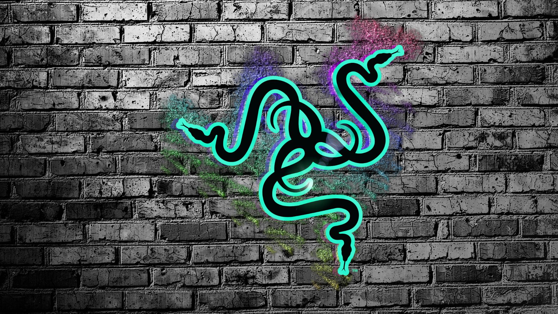 ... Razer Logo Rainbow Brick Wallpaper by Sandwichen