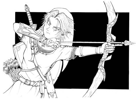 Zelda: Link the archer Lineart