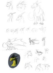 Dragons and dragons and dragons by Randomonium09