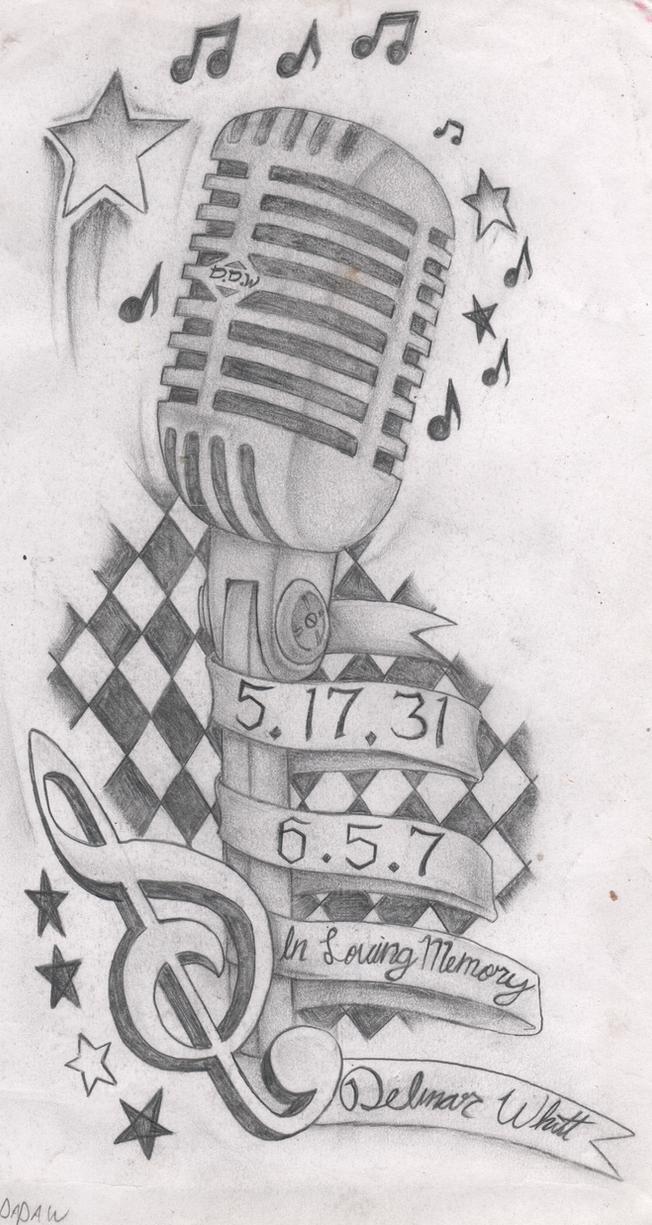 Micro Vintage Dessin : microphone tattoo design by dillongetwhittit on deviantart ~ Medecine-chirurgie-esthetiques.com Avis de Voitures
