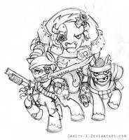 Catachan Jungle Ponies - WIP by Sanity-X
