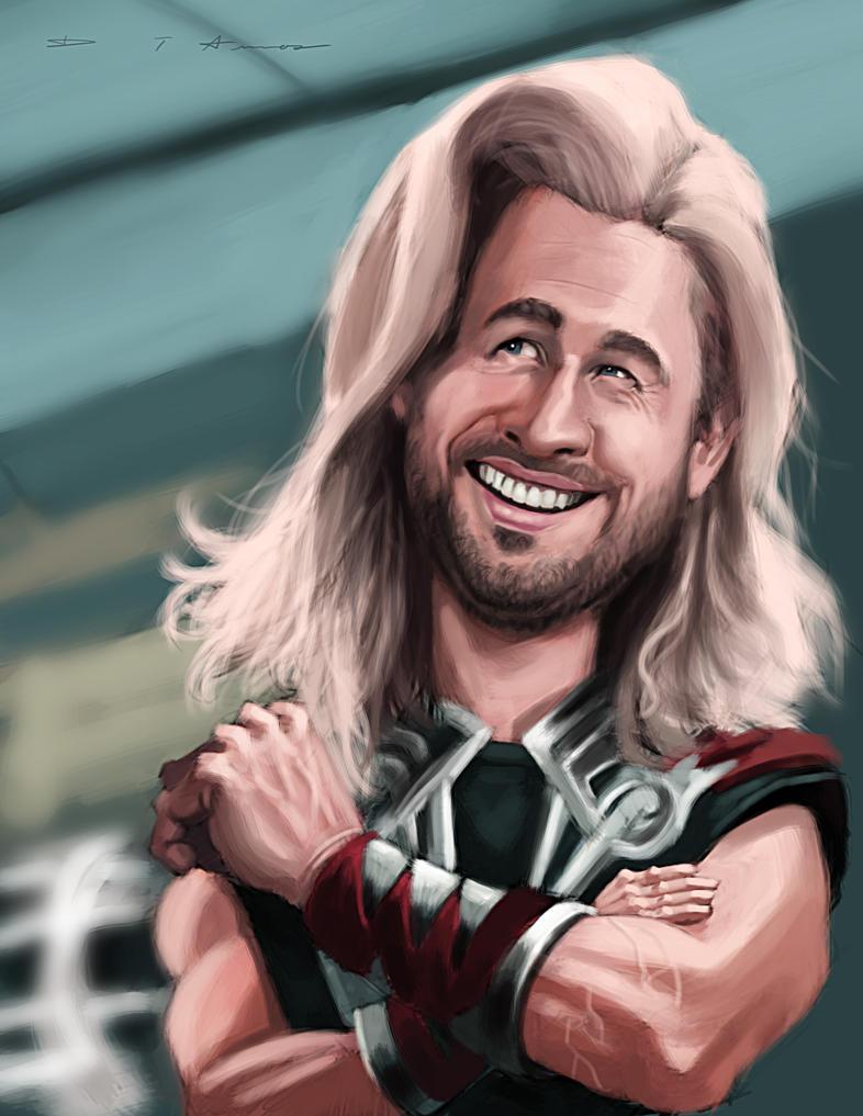 Chris Hemsworth as Thor by DevonneAmos