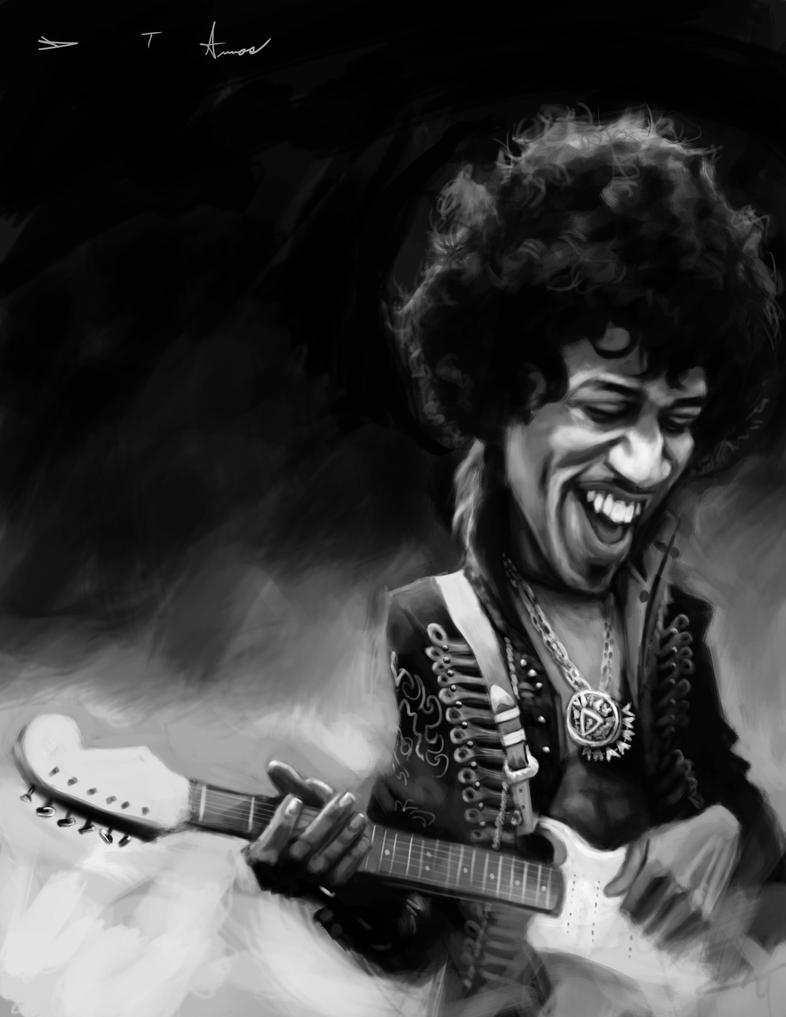 Jimi Hendrix by DevonneAmos