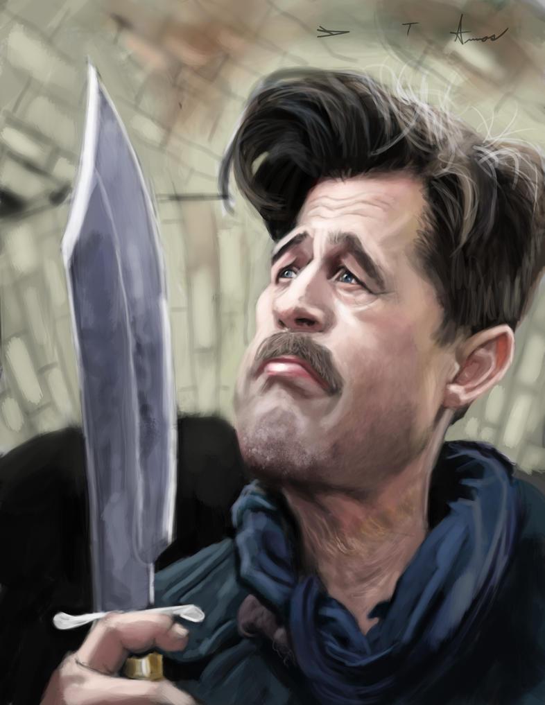 Brad Pitt - Inglorious Basterds by DevonneAmos