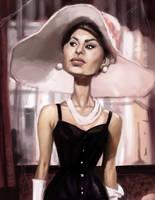 Sophia Loren by DevonneAmos