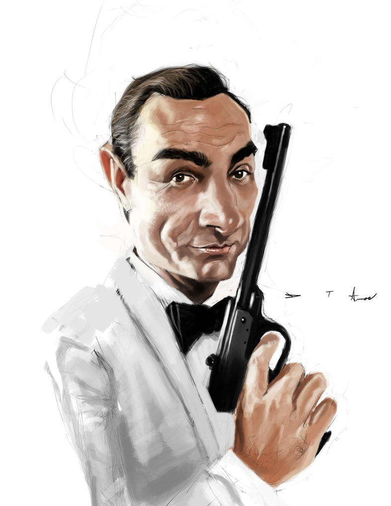 Sean Connery 007 by DevonneAmos