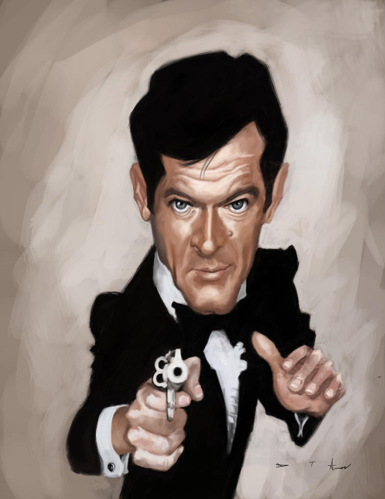 Roger Moore 007 by DevonneAmos