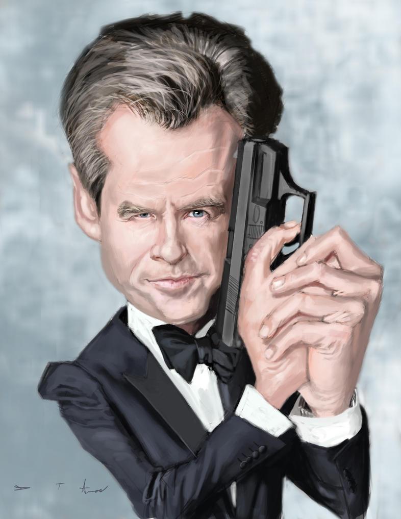 Pierce Brosnan 007 by DevonneAmos