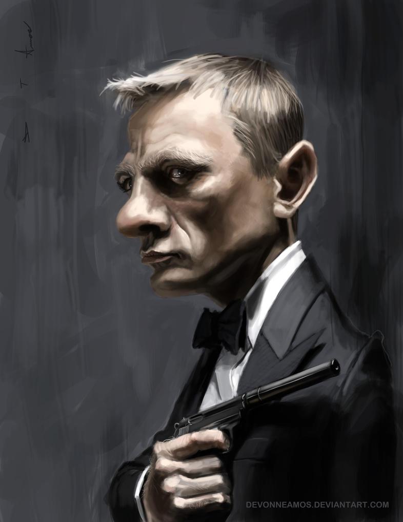 Daniel Craig as James Bond by DevonneAmos