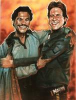 Lando and Han - Pals by DevonneAmos