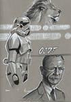 James Bond Sketch by DevonneAmos