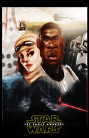 Star Wars: The Force Awakens Poster by DevonneAmos