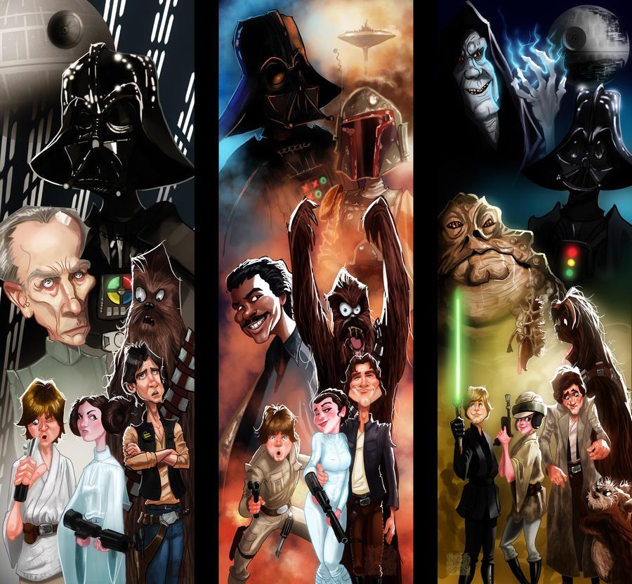 Star Wars Episode IV, V and VI by DevonneAmos