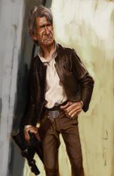 Old Man Han Solo by DevonneAmos