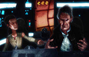Han Solo - Back In the Mess - Episode VII by DevonneAmos