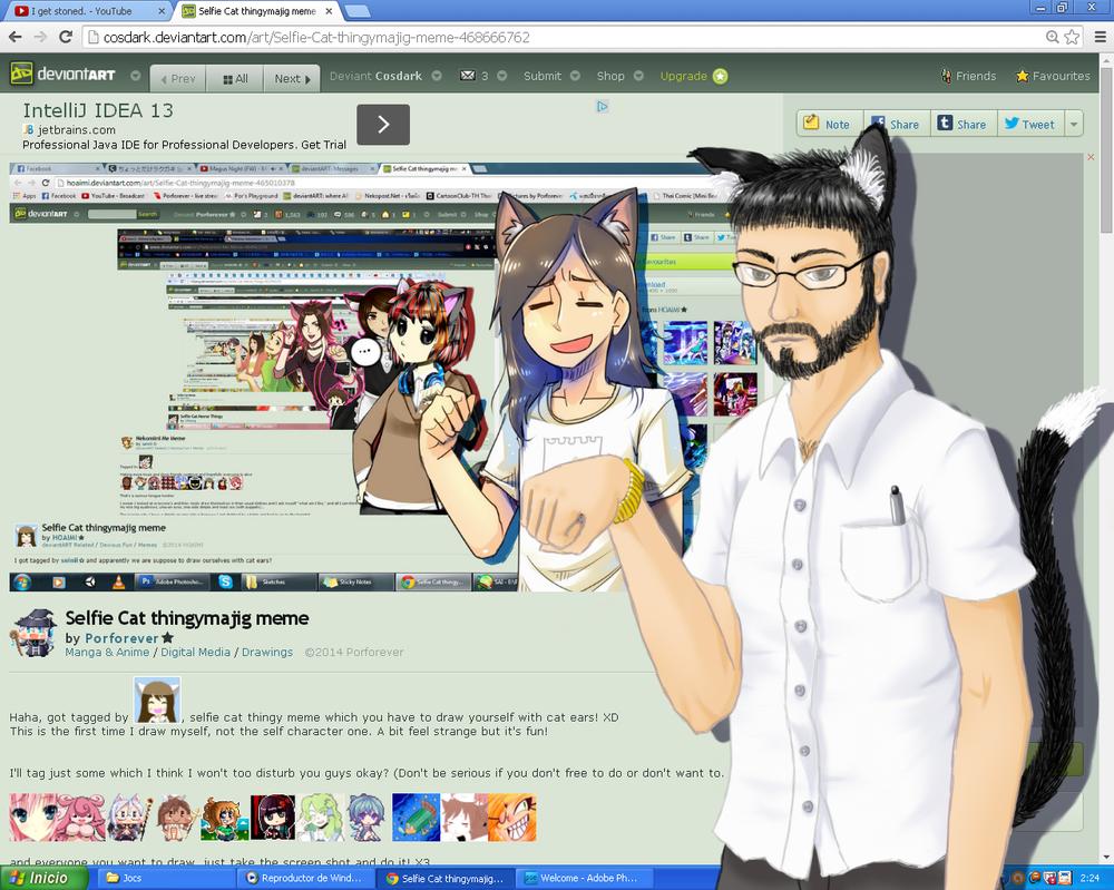 Selfie Cat Thingymajig meme by Cosdark