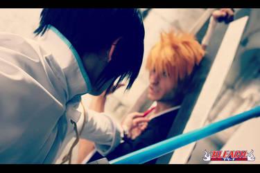 Bleach: Ishida Uryuu Cosplay with Ichigo 2 by Schismism7