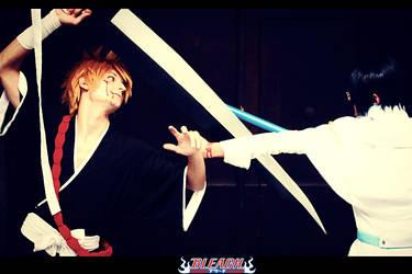 Bleach: Ishida Uryuu Cosplay with Ichigo Kurosaki by Schismism7