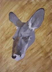 'Blue' Kangaroo Painting