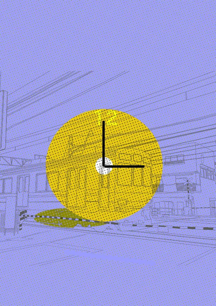Abstract Subway Clock by Bayo2Ajayi