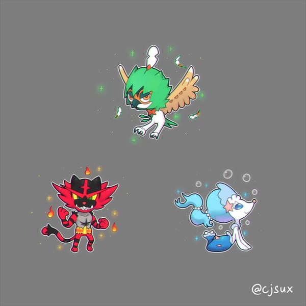 Gen 7 Starters Final Evolutions by CJsux