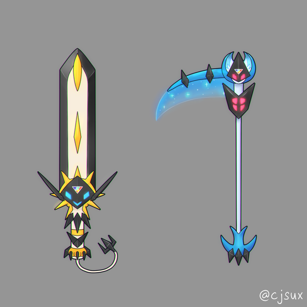 Ultra Solgaleo Sword And Ultra Lunala Scythe By Cjsux On Deviantart