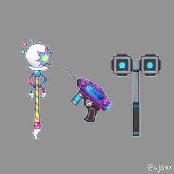 Burst Staff Adhesive Gun or Assembly Hammer?