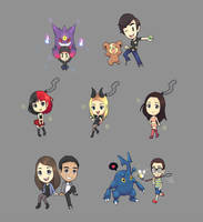 some chibi and pokemon commissions