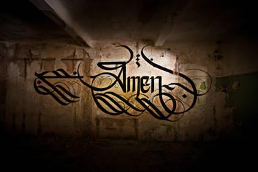 AMEN Calligraphy