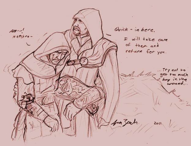 Ezio to the rescue WIP by coloristjen