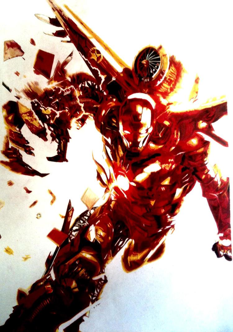 War Machine (Iron Man) by mahfuz998