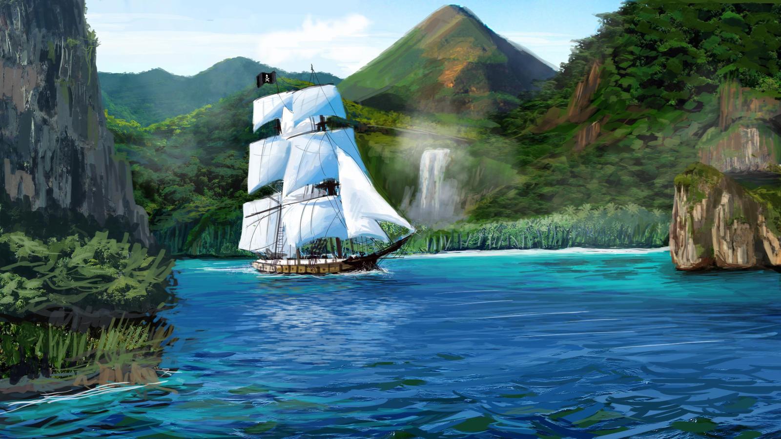 Caribbean Pirate Ship By SeniorJ