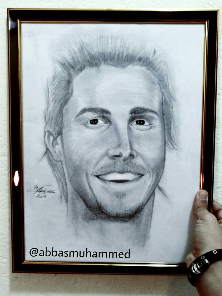 Christian Bale drawing by abbasmuhammed