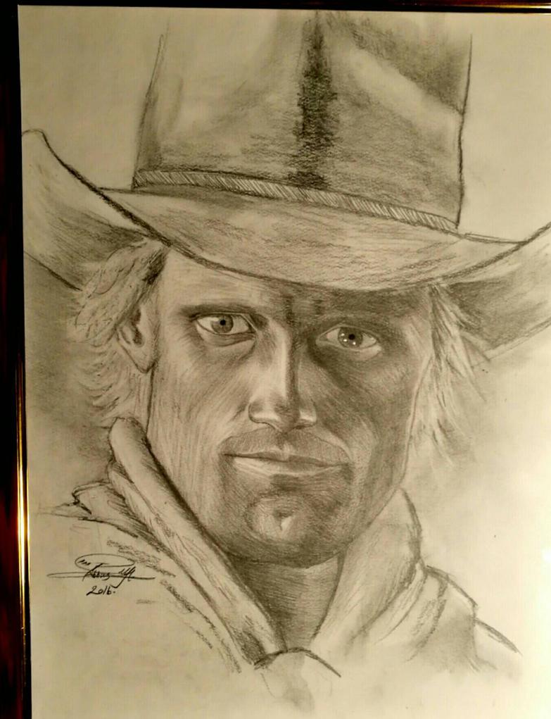 Cowboy drawing by abbasmuhammed