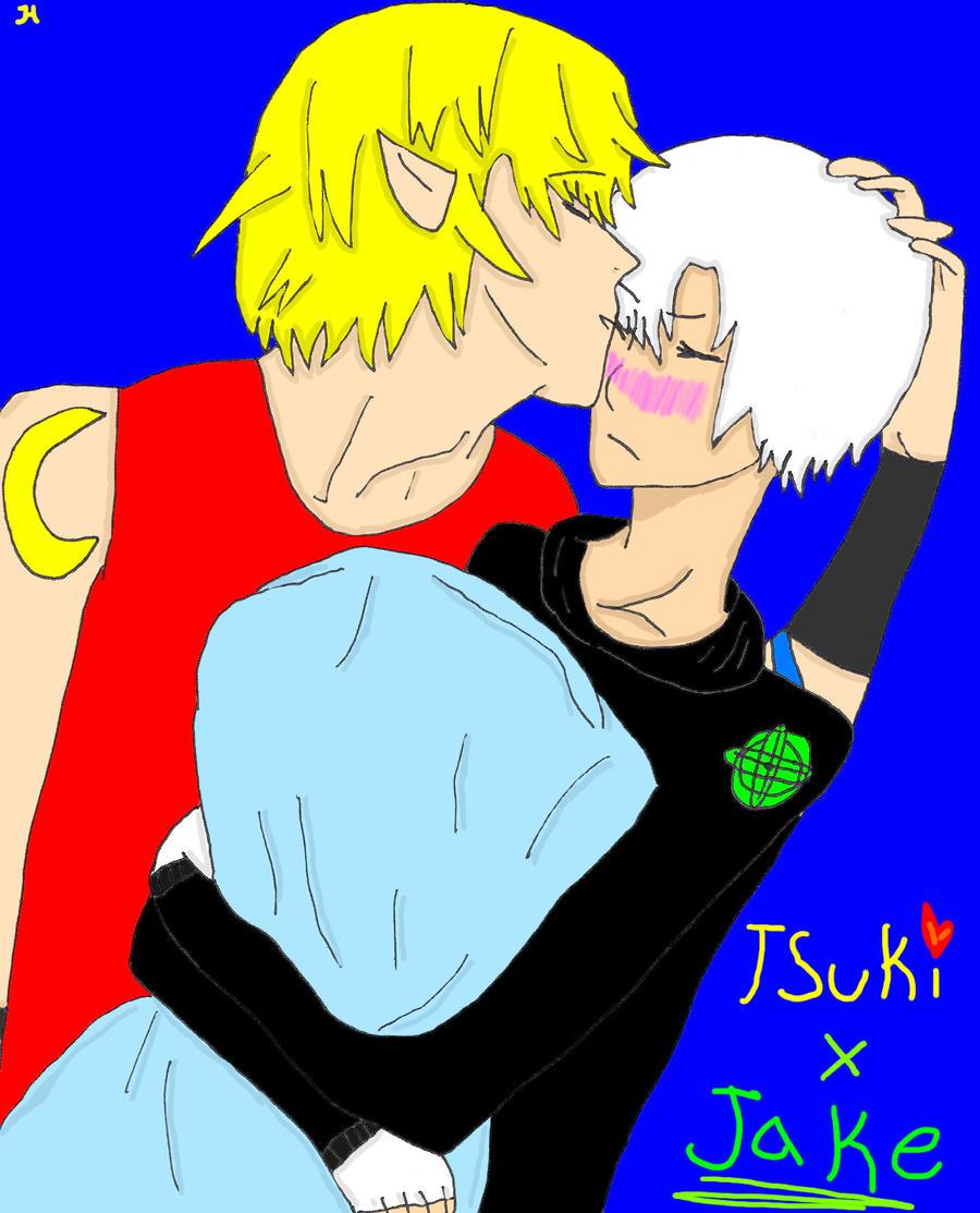 Tsuki and Jake by princess-haru44
