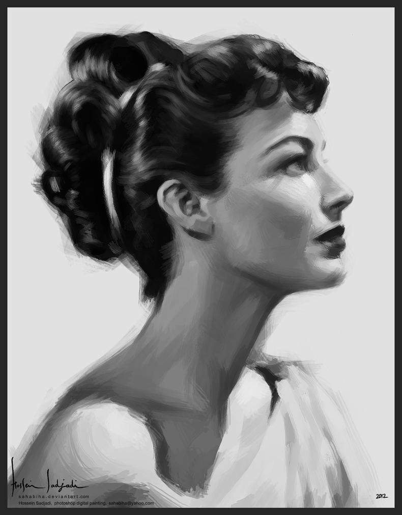 Ava Gardner by sahabiha
