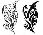 Polynesian tribal design