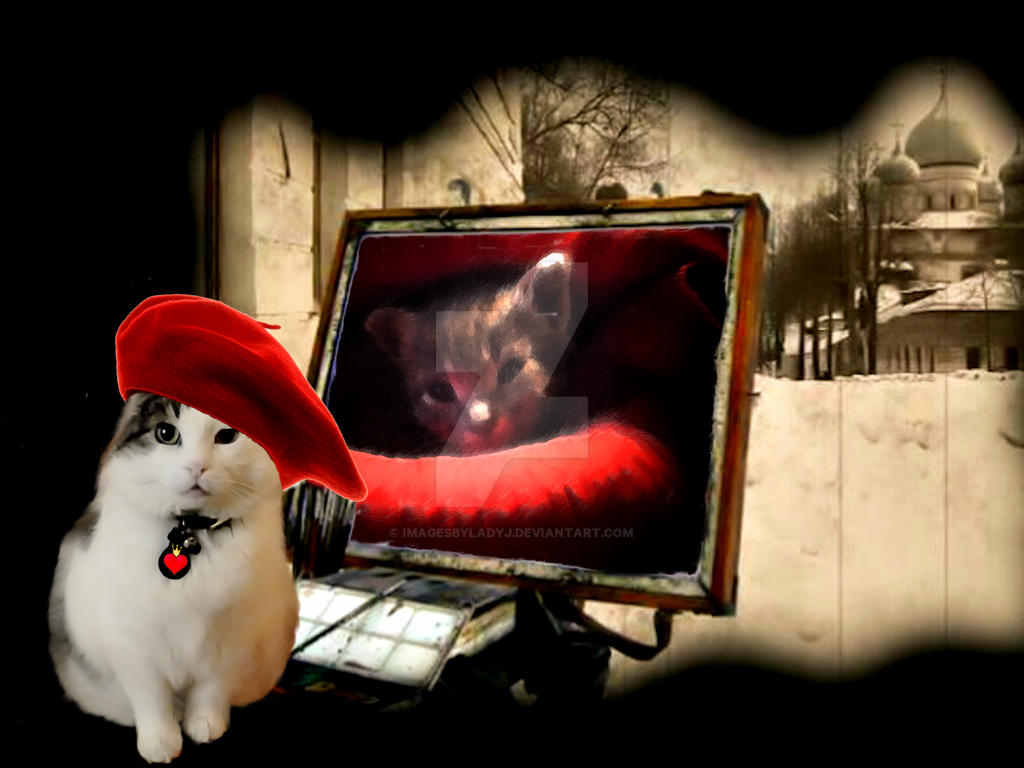 SIR SNOWY'S CATTITUDE IN ART by ImagesByLadyJ