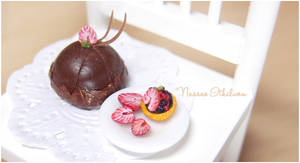 A Strawberry Themed Dessert by Nassae