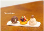 Dessert set of three