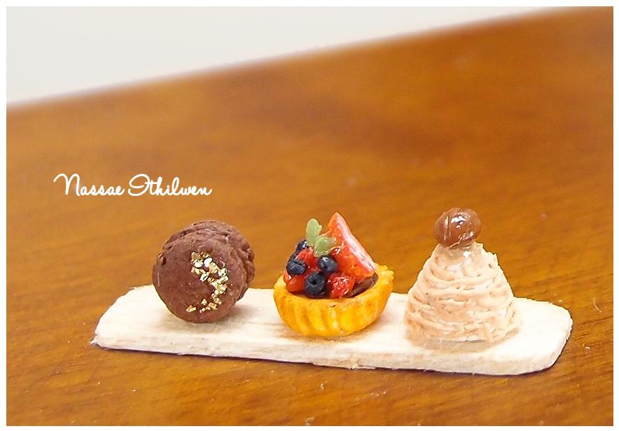 Dessert set of three by Nassae