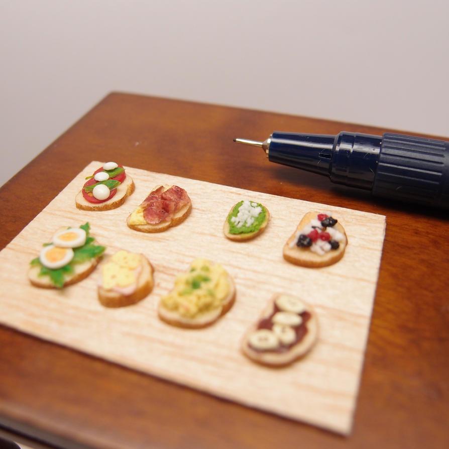 Bruschetta assorted - Miniature by Nassae