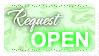 Request OPEN (Stamp) by Kazhmiran