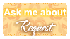 Ask Me About Request (Stamp) by Kazhmiran
