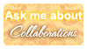 Ask Me About Collab (Stamp)