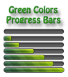 Green Colors Progress Bars
