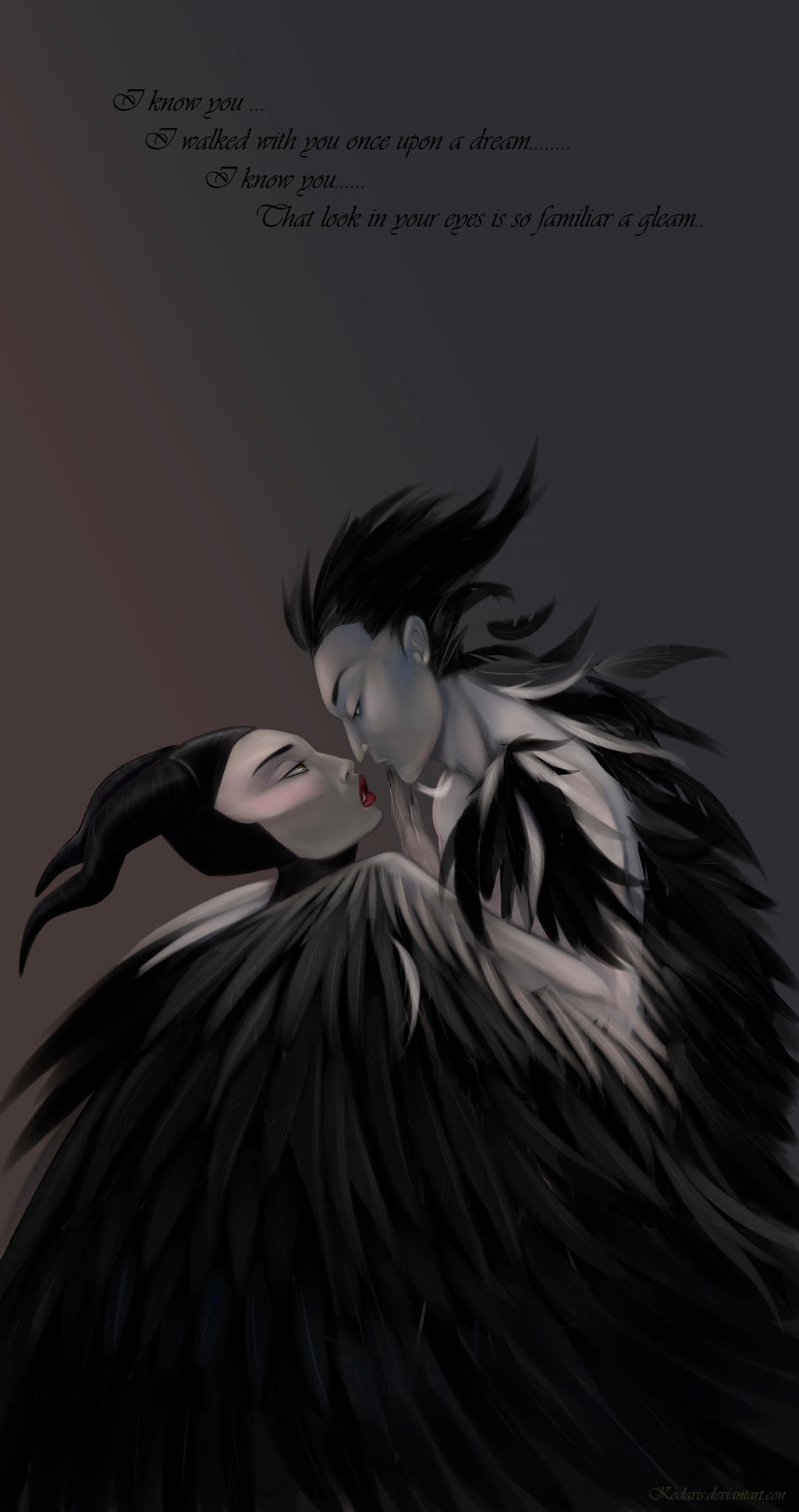 Maleficent And Diaval By Kodaris On Deviantart