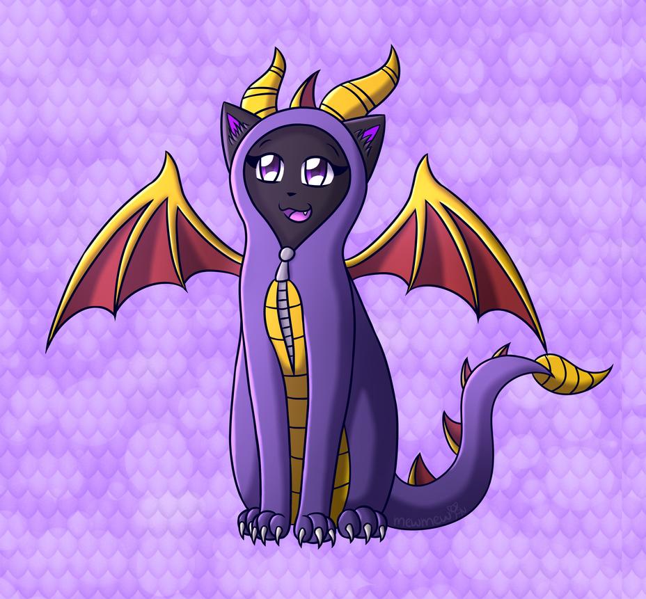 Rawr I'm Spyro! by Mewmewcat12