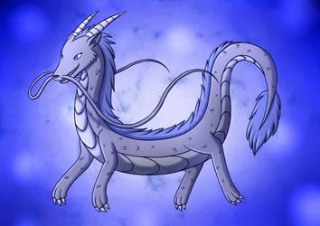 Bluestar as a Dragon by Mewmewcat12